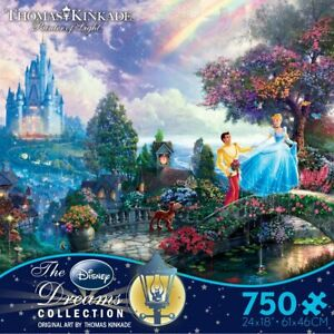 Thomas Kinkade Cinderella Wishes Upon A Dream Ceaco 750 Piece Puzzle