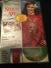 Christmas Ugly Sweater Sequin Art garment beading New Sealed Kit Cute Reindeer