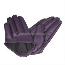 Hot Woman Tight Half Palm Gloves Imitation Leather Five Finger Vivid Color hv2n