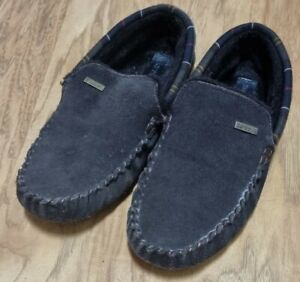 Men's Barbour Slippers Monty House Slippers UK Size 8 VGC