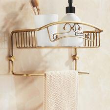 European Antique Wall Mount Brass Shower Bathroom Shelf Basket Caddy Organizer