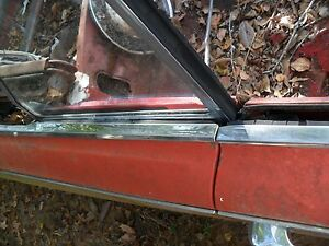 1963 buick special convertible R.H. quarter window frame complete