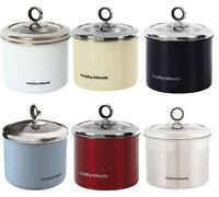 Morphy Richards Stainless Steel Accents Small Storage Canister with Glass Lid