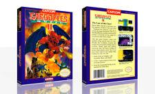 Gargoyle's Quest II Nes Repuesto Caja Juego Caja + Funda Art (No Hay Juego )