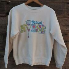 Vintage School Nurse Sweatshirt Size M Medium 1980's