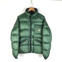 Vintage Moncler Puffer Jacket Size M Green