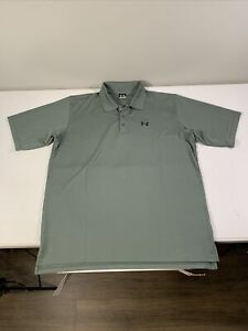 Men's Under Armour Short Sleeve Polo Shirt Size XL Olive Polyester