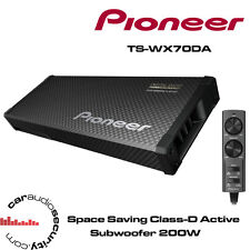 "PIONEER TS-WX70DA Ultra Flat Slim Amplified Car Subwoofer 200W 6"" Subwoofers"