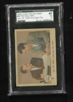 1959 Fleer Ted Williams SP Ted Signs  SGC 40 VG 3 + 31 cards partial lot set HOF