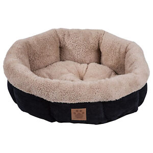 Petmate 7075995 SnooZZy Mod Chic Small Soft Round Shearling Dog Bed, Black