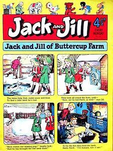 JACK & JILL - 12th JANUARY 1957 (7 - 13 Jan) RARE 65th BIRTHDAY GIFT !!....beano