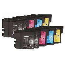 10 compatibles NONOEM IMPRESORA LC1100 LC980 LC-980 LC1100BK LC980BK LC 1100BK