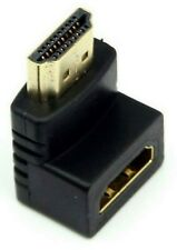 GOLD HDMI Male to HDMI Female Cable Adapter Converter 90 Degree Right Angle HDTV