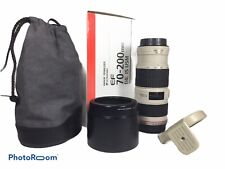 Canon EF 70-200mm f/4 L IS USM Excellent Cond Lens Hood Case Tripod Mount Ring