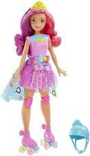 BARBIE videogioco l'eroina luce gioco BELLA BAMBOLA pattini a rotelle Doll NUOVO videogame