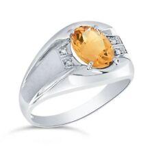 Anelli di lusso gialli in argento sterling diamante
