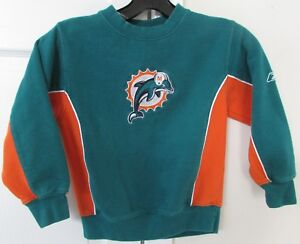 NFL Miami Dolphins Sweatshirt Size Youth Med (5-6) Great Dolphins Color Reebok