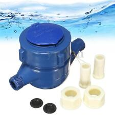 15mm Plastic Single Flow Dry Cold Water Table Home Water Measuring Meter m