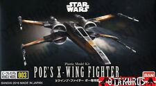 Poe's X-Wing Star Fighter Star Wars Vehicle Model 86MM Kit Figure Bandai Japan