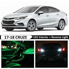 14x Green Interior Reverse Backup LED Light Package for 2017-2018 Chevy Cruze