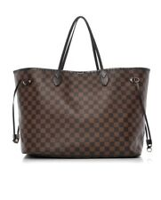 LOUIS VUITTON Damier Ebene Neverfull Tote GM Brown
