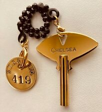 New listing Chelsea Clock Co. Factory Key Newport News Shipbuilding Dry Dock Brass Fob