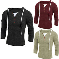 Mens Boys Plain Hoodies Sweatshirt Hooded Pullover Tops Autumn Winter Blouse New