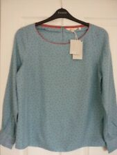 BODEN ZADA BLOUSE HERITAGE BLUE POLKA DOT. UK 14 EUR 40-42, US 10. BNWT W0432