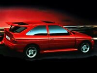 FORD ESCORT MKV COSWORTH RADIANT RED RETRO POSTER PRINT CLASSIC 80's ADVERT A3