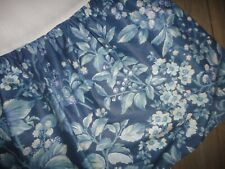 "LAURA ASHLEY KINGSBERRY BRAMBLE BLUE PURPLE FLORAL (1) TWIN BEDSKIRT 13"" SPLIT"