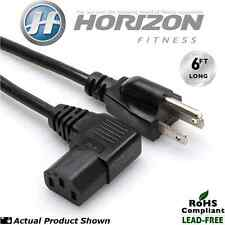 Horizon Fitness T4, T6 & T84 Treadmill 6' Long Premium Power Cord (w/90° Angle)