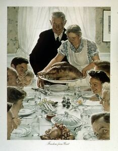 "New 15x20 Art Reprint Photo: ""The Four Freedoms"" Series by Norman Rockwell"