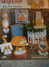 QUICK COUNT - PLASTIC CANVAS PROJECTS - KITTY PURR-FECTIONS - CATS