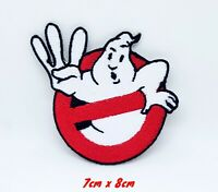 Ghostbusters Logo Fancy Dress Embroidered Iron Sew On Patch #232-A