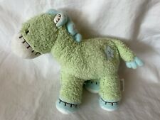 """Carters Baby Horse Plush Green Blue 8"""" Soft Toy"""
