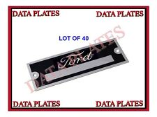 40x Ford DataPlate Serial Number ID TagHot Street Rod Rat Rod Ford Motor Company