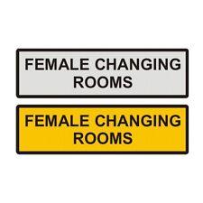 """Female/Ladies Changing Room Metal Door Sign 6"""" x 2"""""""