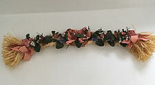 country shabby chic artificial pink blue flowers garland door wall hanging