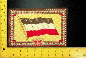 "Antique 1912 Tobacco Flannel Felt Flag GERMANY 6.25"" x 8.25"" Cigar Cigarette"
