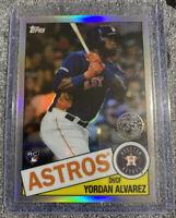 2020 Topps Chrome Yordan Alvarez 35th Anniversary Refractor Rookie Card Astros