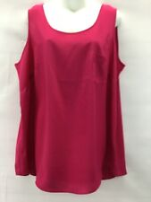 Fade Glory Women's  Sheer Sleeveless Blouse Top Elegant Pink Size 2X #D