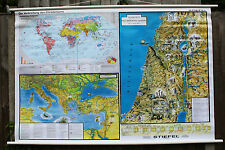 ROLL DOWN PULL DOWN  SCHOOL CHART POSTER OF THE SPREAD OF CHRISTIANITY