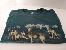 Outdoor Life Night Wolf Wolves Howling At The Moon T Shirt Size XL