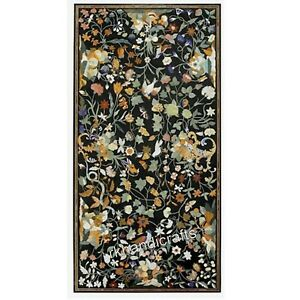 30x60 Inch Marble Conference Table Top Reception Table Inlay with Marquetry Art