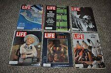 6 LIFE MAGAZINES 1964 SPACE JFK BERLIN BIBLE NEHRU CHANNING CHRISTMAS  ADS