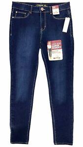 New JORDACHE Women's High Rise Super Skinny Stretch Jeans Dark Wash Denim Sz 12