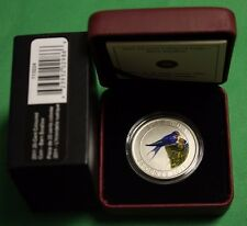 2011 Canada 25 Cents Coloured Barn Swallow W/ Cao And box