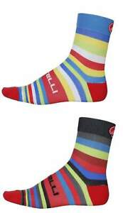 4 pairs castelli striscia cycling socks all size