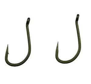 Camo Green Choddy T, Teflon Coated Carp Hooks,Various sizes and QTY