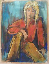 Jean LE GREC (1935-1990) HsP Années 70 Nouvelle Ecole de Paris Jeune Peinture